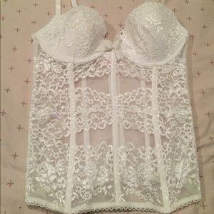 Victoria's Secret White Lace Corset